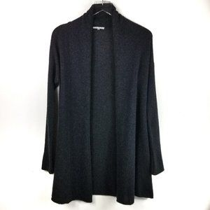 Vince Long Cashmere Open Cardigan Gray XS